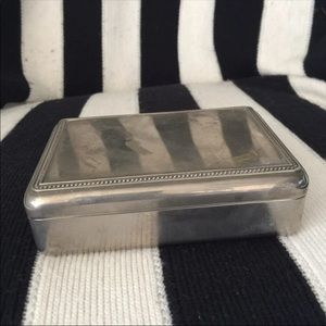 Other - Vintage Silver Keepsake Box